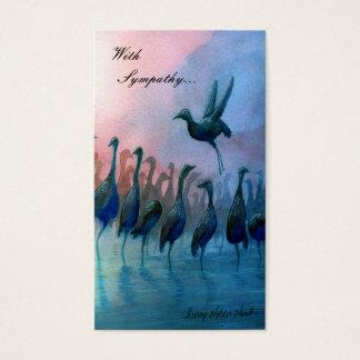 Oiseaux d'eau, avec la sympathie… - Customisé Cartes De Visite