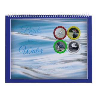 Oiseaux et eau (grands) calendrier mural