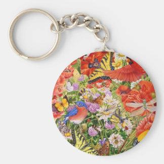 Oiseaux, papillons et porte - clé d'abeilles porte-clés