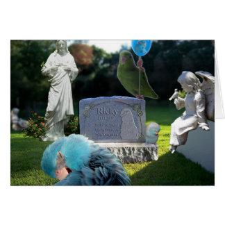 Oiseaux s'affligeants de carte de voeux de sympath