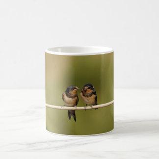 Oiseaux sur un fil mug