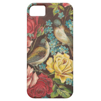 Oiseaux vintages et fleurs coques Case-Mate iPhone 5
