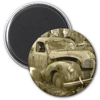 Old car 2 magnet rond 8 cm