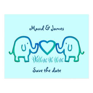 olifants liefde briefkaart