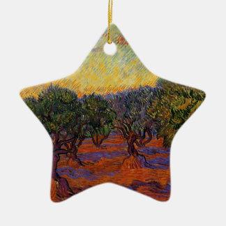 Oliviers - Vincent van Gogh Ornement Étoile En Céramique