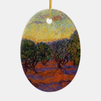 Oliviers - Vincent van Gogh Ornement Ovale En Céramique