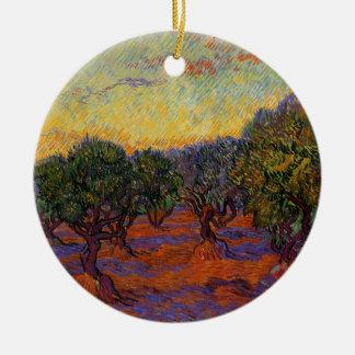 Oliviers - Vincent van Gogh Ornement Rond En Céramique