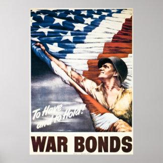 Om - de Banden van de Oorlog - Vintage WW2 te hebb Poster