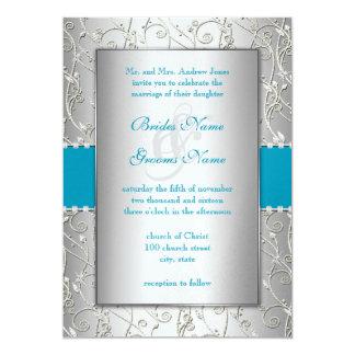 Om het even welk kleuren het Zilveren Huwelijk van 12,7x17,8 Uitnodiging Kaart