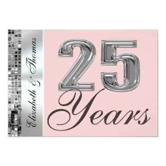 Om het even welke Kleur & 25 van de Zilveren Jaar 12,7x17,8 Uitnodiging Kaart
