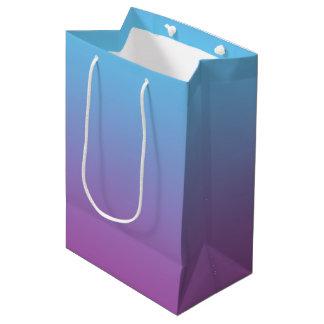 Ombre bleu et pourpre sac cadeau moyen