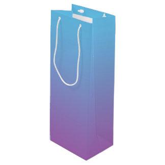 Ombre bleu et pourpre sac cadeau pour bouteille