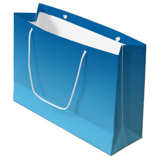 Ombre bleu-foncé grand sac cadeau
