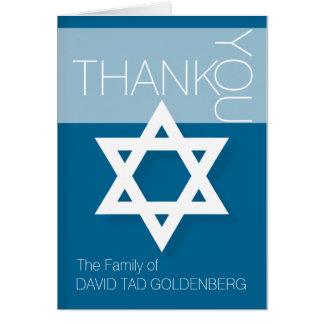 Ombre d'étoile de David de carte de remerciements