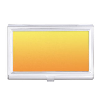 Ombre jaune et orange boîtiers pour cartes de visite