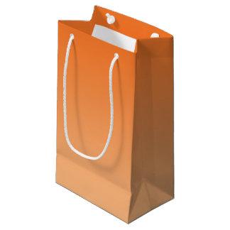 Ombre orange petit sac cadeau