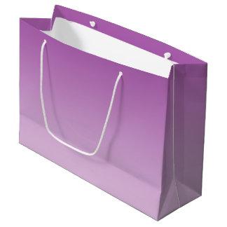 Ombre pourpre doux grand sac cadeau