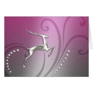 Ombre rose et gris de renne de carte de vacances