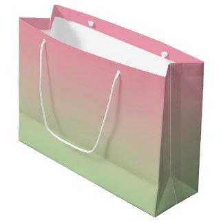 Ombre rose et vert grand sac cadeau