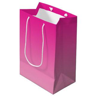 Ombre rose sac cadeau moyen