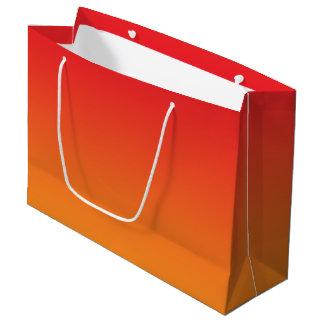 Ombre rouge et orange grand sac cadeau
