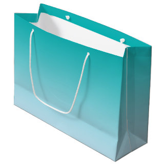 Ombre turquoise grand sac cadeau
