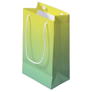 Ombre vert et jaune petit sac cadeau