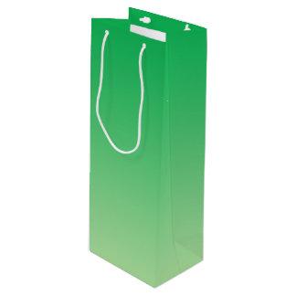 Ombre vert sac cadeau pour bouteille
