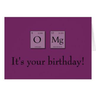 OMG oh ma carte d'anniversaire périodique