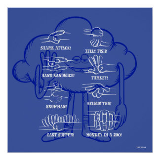 Ondulation de type de nuage des trolls | poster