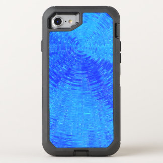 Ondulations bleues coque OtterBox defender iPhone 8/7