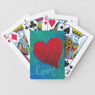 Ondulations de coeur d'amour jeux de cartes