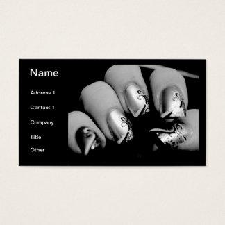 Ongles de concepteur cartes de visite