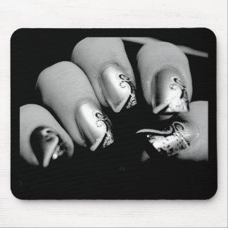 Ongles de concepteur tapis de souris