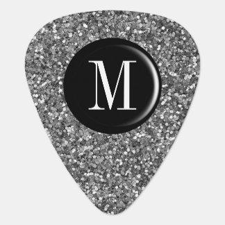 Onglet de guitare argenté de monogramme de