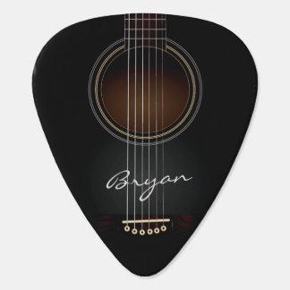 Onglet de guitare personnel noir de guitare
