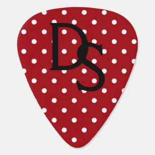 Onglet de guitare rouge et blanc de monogramme de