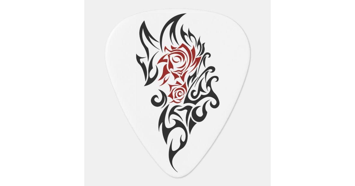 Onglet De Guitare Tribal Rose De Tatouage Zazzle Be