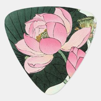 Onglet de guitare vintage de beaux-arts de fleur