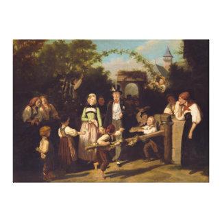Ontvangst van het Paar van het Huwelijk door Theod Canvas Afdruk