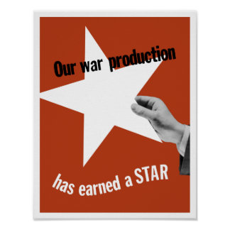 Onze Productie van de Oorlog heeft een Ster Poster