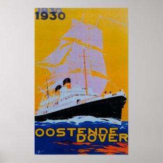 Oostende Dover Vintage PosterEurope Poster
