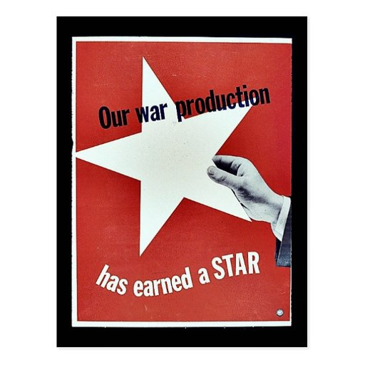 Op Oorlog heeft de Productie een Ster verdiend Wens Kaart