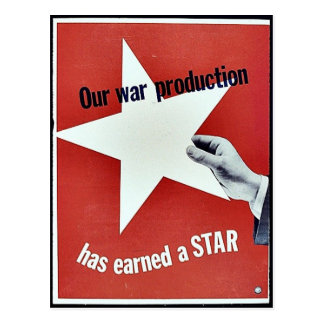 Op Oorlog heeft de Productie een Ster verdiend Wens Kaarten
