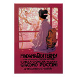 Opéra de papillon de Madama Posters