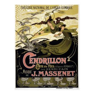 Opéra français vintage Paris de Cendrillon Cartes Postales