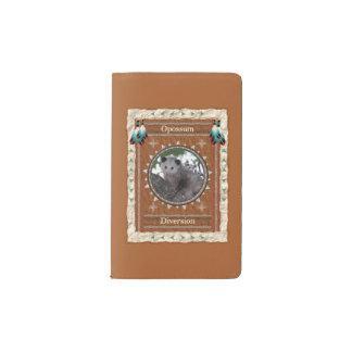 Opossum - couverture de velours de coton de carnet