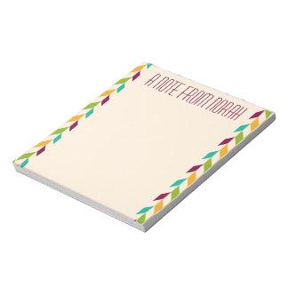 Optisch bladerenontwerp notitieblok