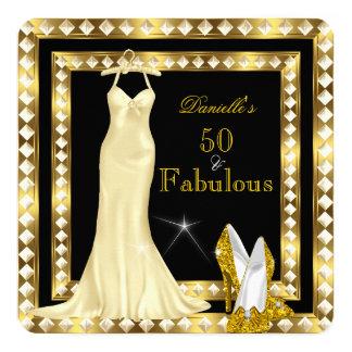 Or 50 Deco 2a fabuleux de Hollywood de rétro Carton D'invitation 13,33 Cm