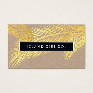 Or à la mode papier d'emballage de PAUME de logo Cartes De Visite